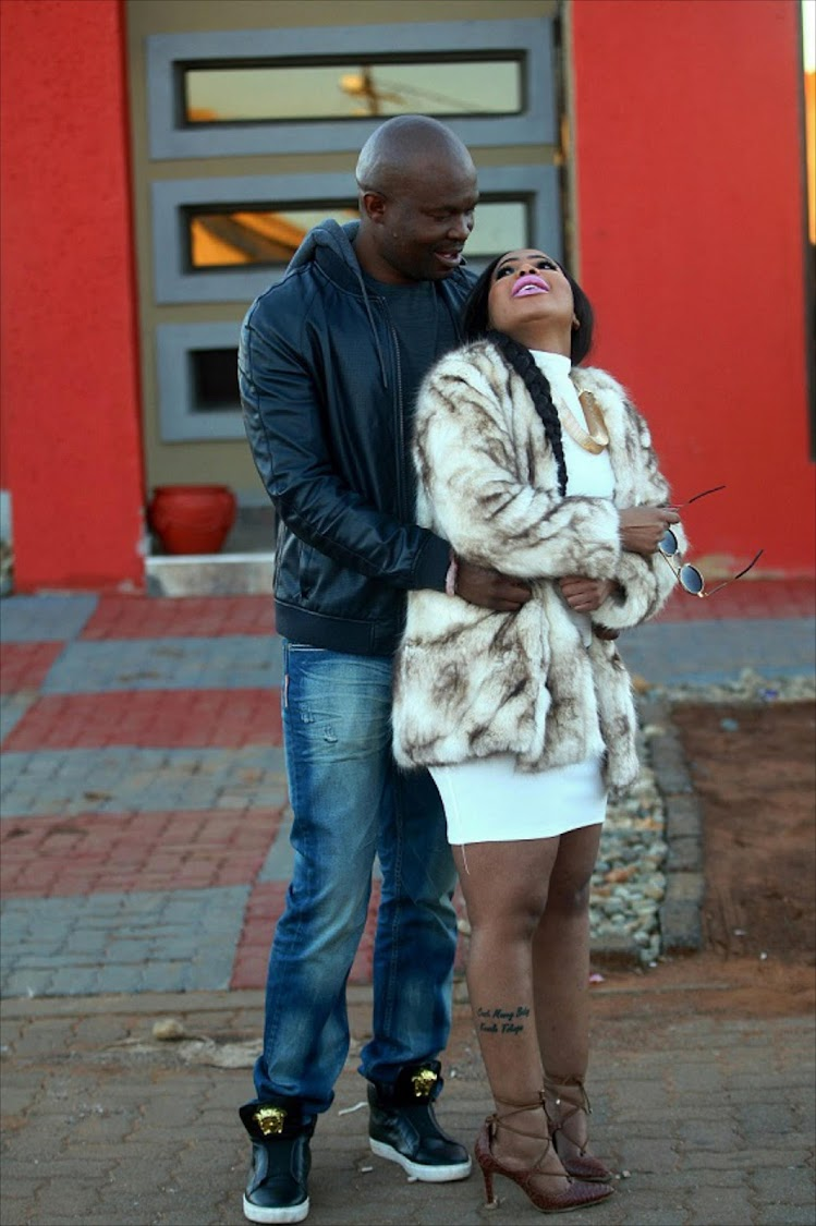 Mshoza with Thuthukani Mvula, posing for a photo in Soweto.