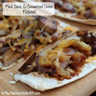 Flank Steak and Caramelized Onion Flatbread Recipe