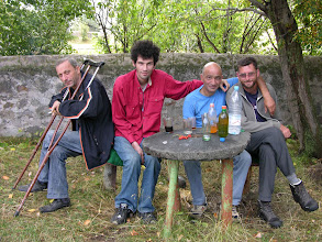 Photo: Ruslan, Lasha, Gorem and Mick the morning after the night before