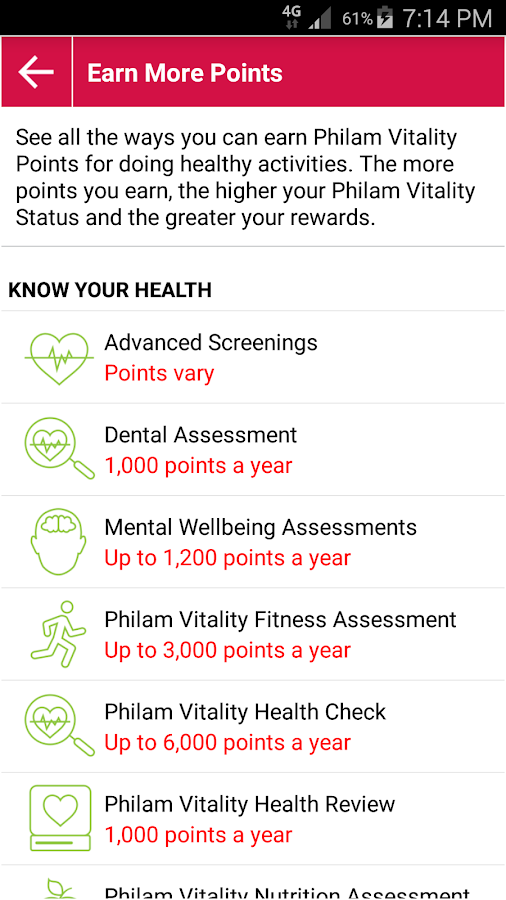 Philam Vitality- screenshot