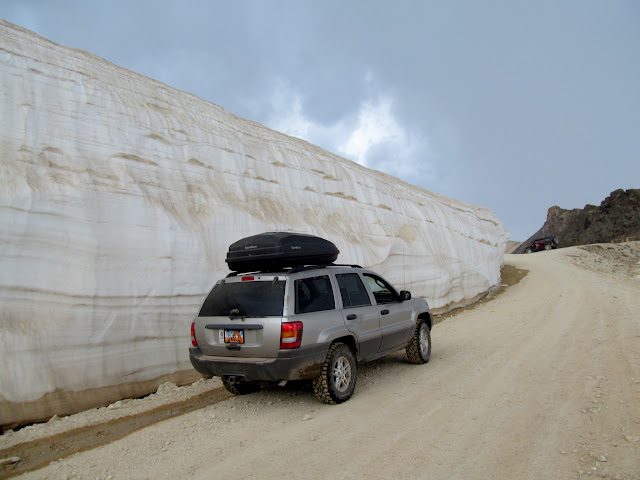 Snow drift at Engineer Pass