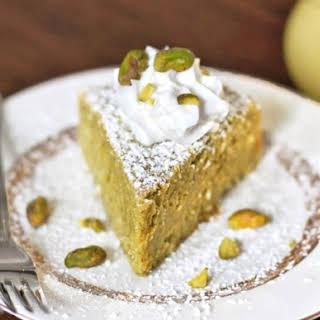 Healthy Whole Lemon Pistachio Cake.