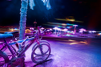 Photo: Black Rock Roller Rink All night, every night, you can get these crazy light paintings at Burning Man. I would just set up at someplace interesting (which was so easy to find) and wait for something weird to go by. This year should be even better. More art installations have been registered than ever before.