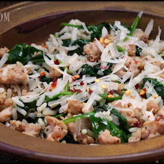 Turkey Sausage and Spinach Rice Bowl