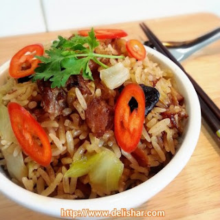 Stewed Pork Cabbage Rice (Rice Cooker)