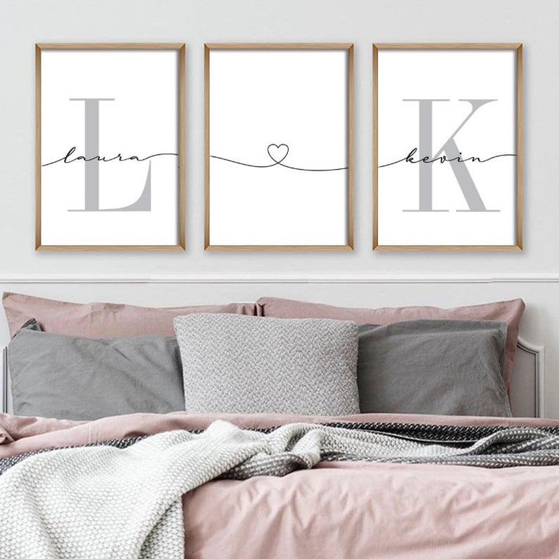 His and Her Initial Letter Above Your Bedroom