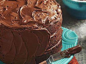 Three-tiered Fudgy Chocolate Cake Recipe