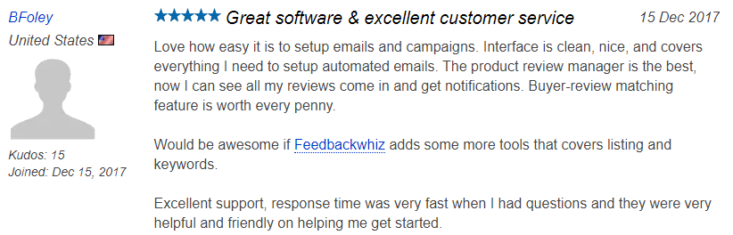 Feedbackwhiz Customer Review