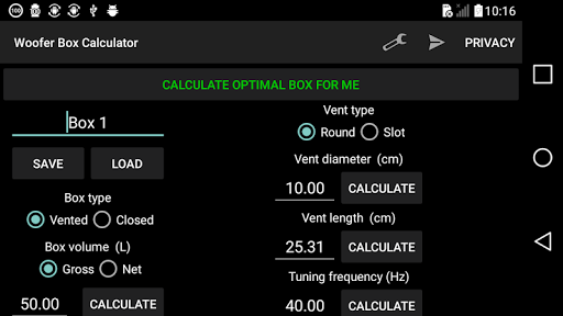Woofer Box Calculator v6.1 (Ad-Free)