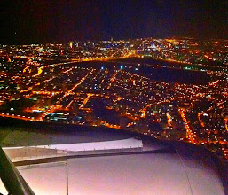 Photo: Landing in Tel Aviv around midnight.