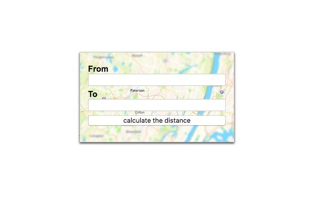 Driving distance calculator
