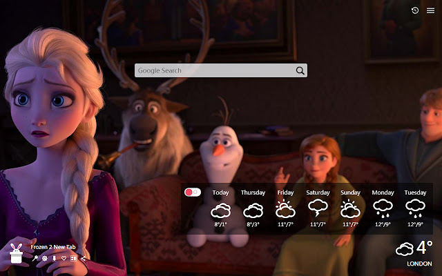 Frozen 2 New Tab, Wallpapers HD
