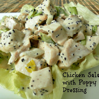 Chicken Salad with Poppy Seed Dressing.