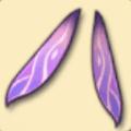 うお座のピンクの羽