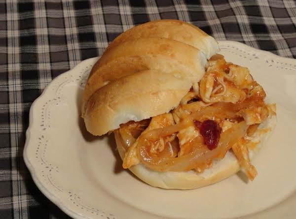 Cran-apple Bbq Pulled Turkey Sandwich
