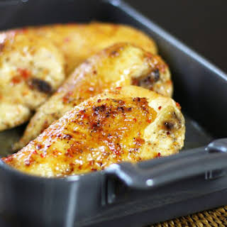 Oven-Roasted Chicken With Pepper Jelly Glaze.