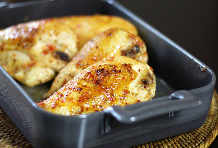 Oven-Roasted Chicken with Pepper Jelly Glaze Recipe