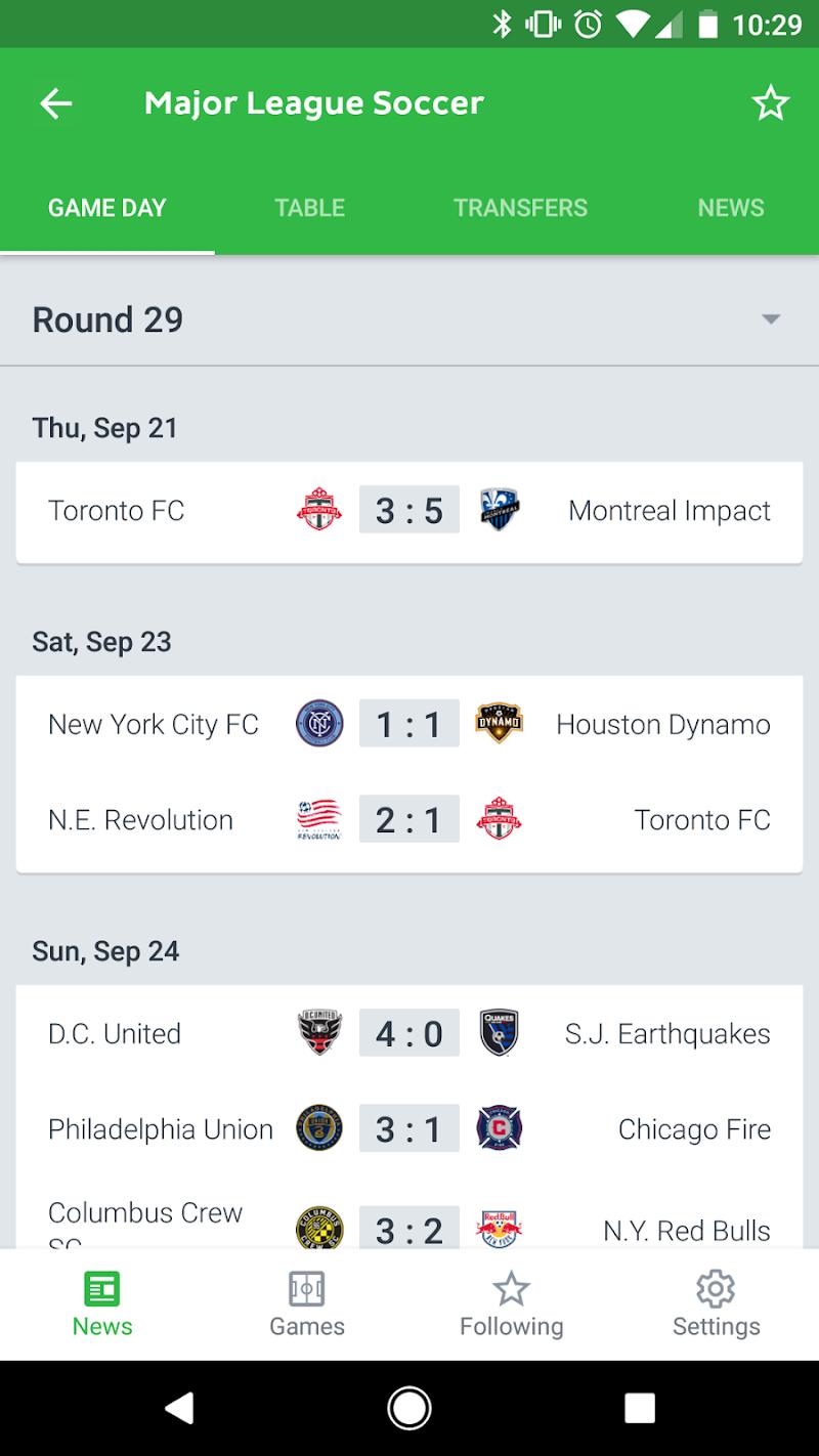 Onefootball Live Soccer Scores Screenshot 1