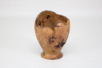 "Photo: Bill Long 4"" x 3 1/2"" goblet - for Bring-Back Challenge [oak burl]"