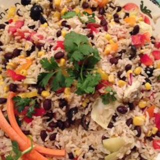 Brown Rice Salad (Vegan, Vegetarian).