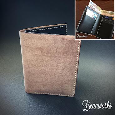 Wax Polished Brown Slim Wallet