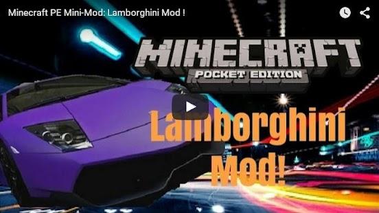 1 CAR MODS FOR MineCraft PE App screenshot