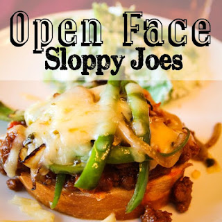 Open Face Sloppy Joes.