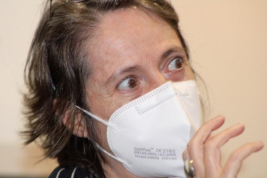La escritora madrileña durante su intervención.