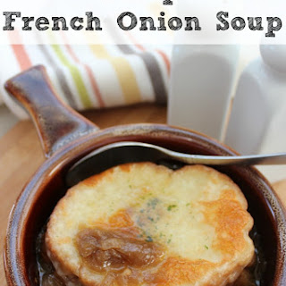 Easy Recipe for Crockpot French Onion Soup.