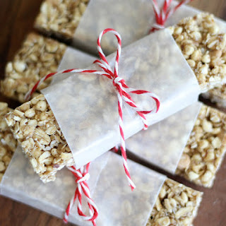 Chewy, No Bake Peanut Butter Granola Bars.