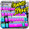 Graffiti street rock keyboard