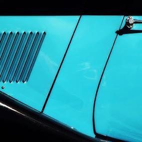 Blue Door by Kim McAvoy - Transportation Automobiles ( car, handle, blue, automobile, chrome, vehicle, door )