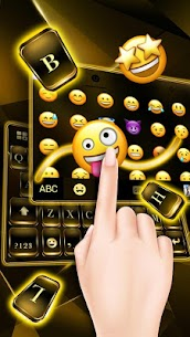 Black Gold Keyboard 1.0 Mod + Data for Android 2