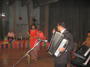Photo: Pallavi Shreedhar, Patrick Rosario on accordian
