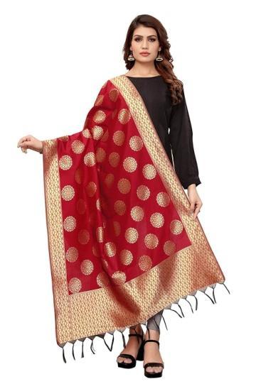 Jaanvi fashion Women's Banarasi Silk Woven Dupatta(Zari Work) | Fashion,  Indian fashion, Women