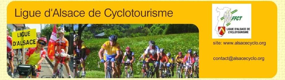 A compter du 31/03/2017, l'association « Ligue Alsace de Cyclotourisme » n'a plus aucune mission au sein de la FFCT.