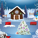 clock house santa escape icon
