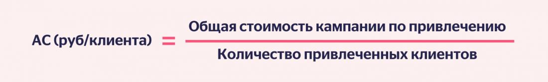 Формула CAC