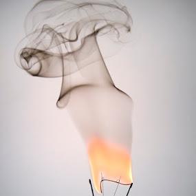 Burning by Salahudin Damar Jaya - Products & Objects Technology Objects ( lamp, burn, smoke )