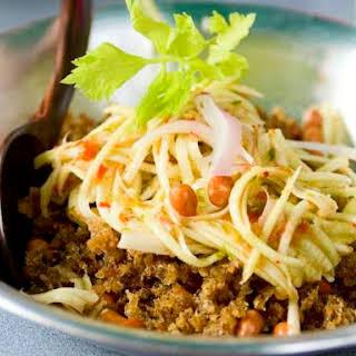 Bangkok Street Food's Crispy Fish and Green Mango Salad.