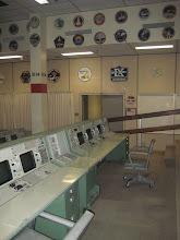 Photo: Mission Control Center Consoles & Mission Insignia