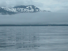 Photo: July 11 - An Alaska Ferry passes in Frederick Sound.