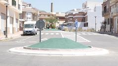 Rotonda habilitada en El Cercado.