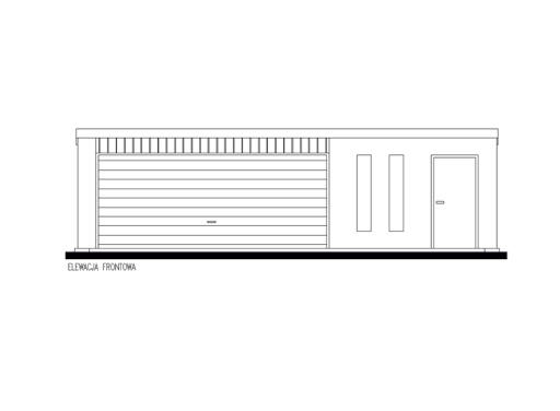 projekt GB61 Garaż Blaszany Jednostanowiskowy Z Pomieszczeniem Gospodarczym