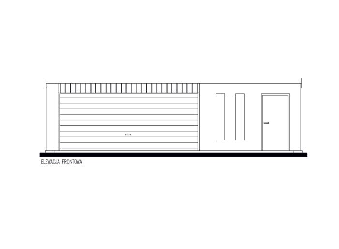 Projekt Garażu Gb61 Garaż Blaszany Jednostanowiskowy Z