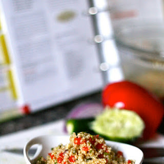 Quinoa Salad with Red Pepper and Cilantro.
