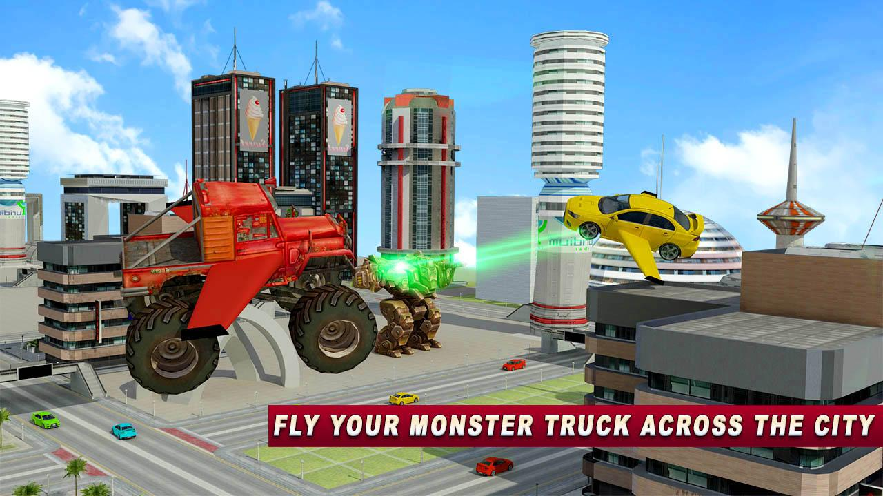 Flying Monster Truck Wars- screenshot