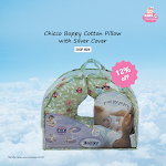 Buy Chicco Boppy Cotton Pillow with Silver Cover (Multicolor)