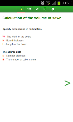 Calculate the volume of lumber