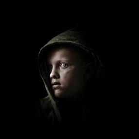 In the hood by Annelie Hallberg - Babies & Children Child Portraits